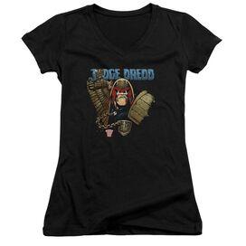 Judge Dredd Smile Scumbag Junior V Neck T-Shirt
