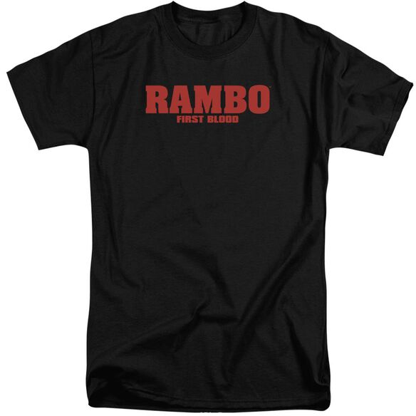 Rambo:First Blood Logo Short Sleeve Adult Tall T-Shirt