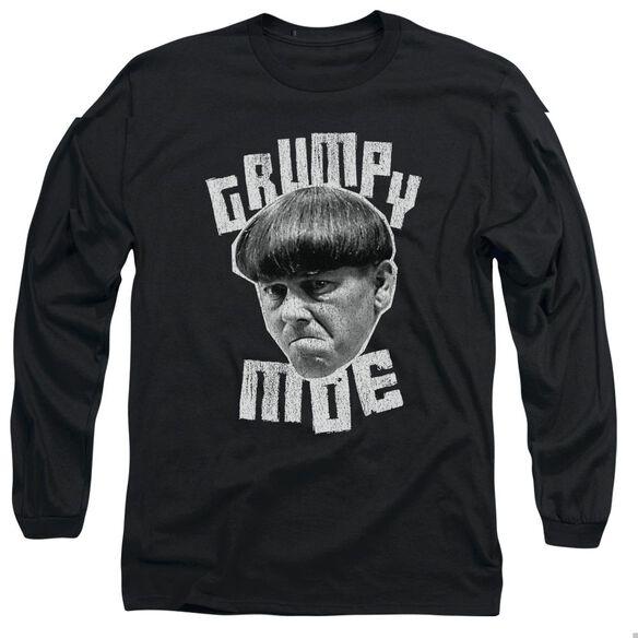 THREE STOOGES GRUMPY MOE - L/S ADULT 18/1 - BLACK T-Shirt