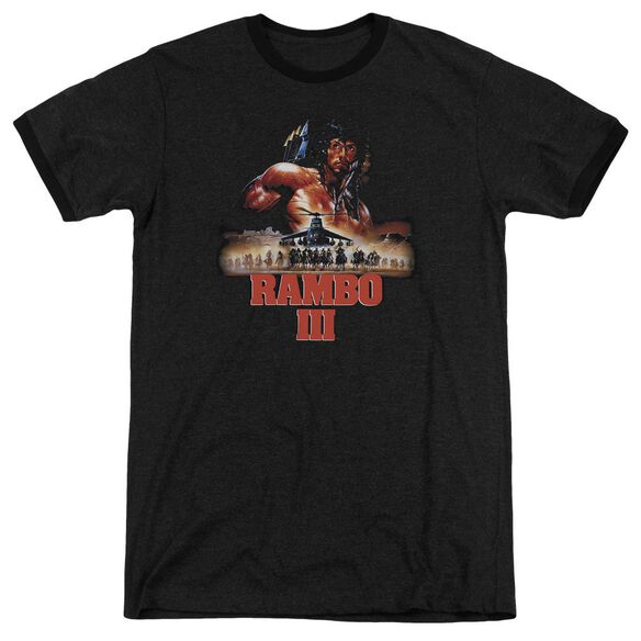 Rambo Iii French Poster Adult Heather Ringer Black