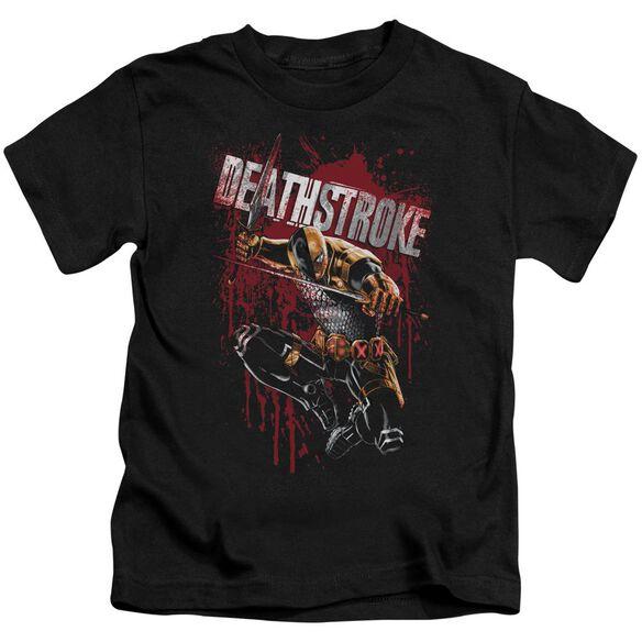 Jla Blood Splattered Short Sleeve Juvenile T-Shirt