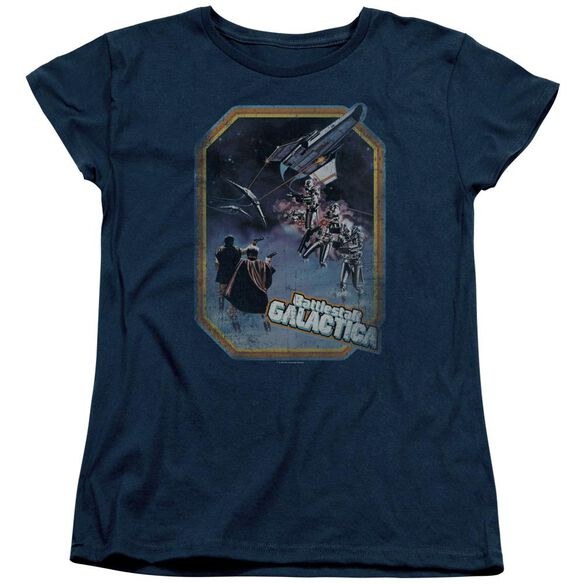 Bsg Poster Iron On Short Sleeve Womens Tee T-Shirt