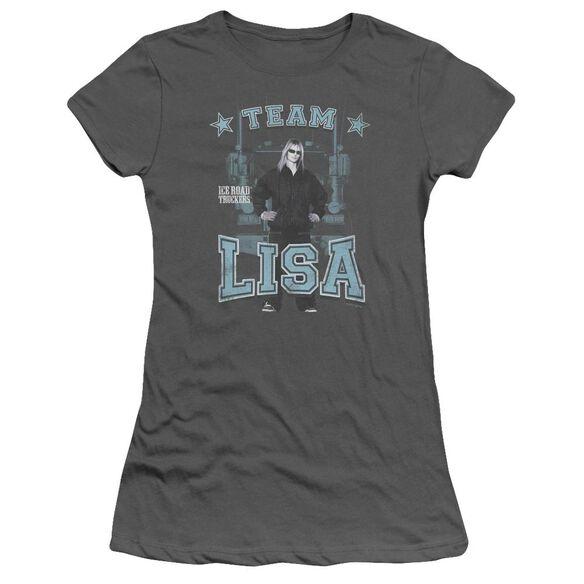 Ice Road Truckers Team Lisa Short Sleeve Junior Sheer T-Shirt