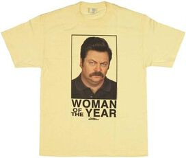 Parks and Recreation Ron Woman of Year T-Shirt
