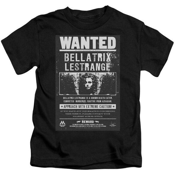 Harry Potter Wanted Bellatrix Short Sleeve Juvenile T-Shirt