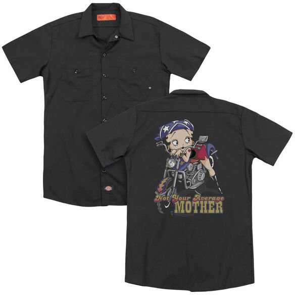 Betty Boop Not Your Average Mother (Back Print) Adult Work Shirt