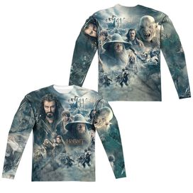 Hobbit Epic Poster (Front Back Print) Long Sleeve Adult Poly Crew T-Shirt