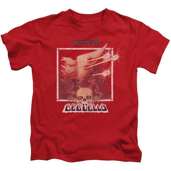 Zz Top Deguello Cover Short Sleeve Juvenile Red T-Shirt