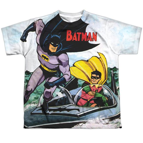 Batman Batboat Short Sleeve Youth Poly Crew T-Shirt