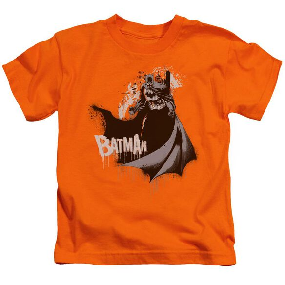 Batman The Drip Knight Short Sleeve Juvenile Orange Md T-Shirt