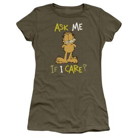 GARFIELD ASK ME IF I CARE-S/S JUNIOR T-Shirt