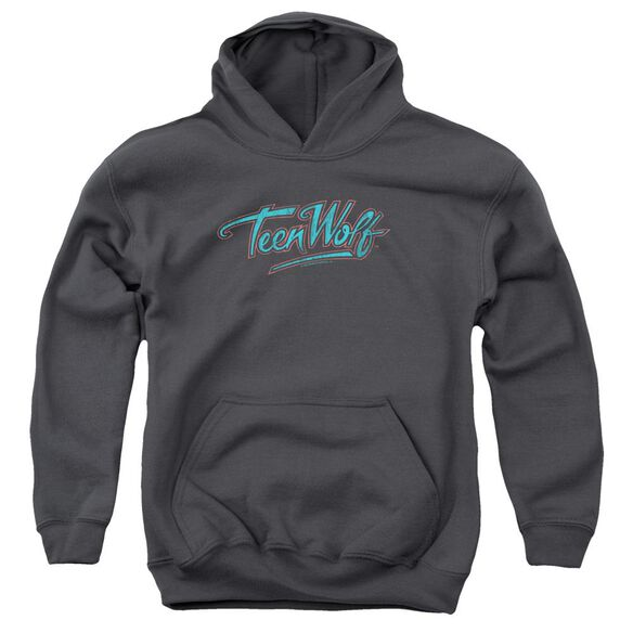 Teen Wolf Neon Logo Youth Pull Over Hoodie