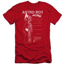 Astro Boy Schematics Premuim Canvas Adult Slim Fit