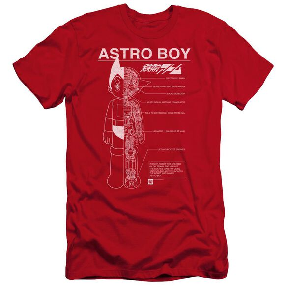 Astro Boy Schematics Premuim Canvas Adult Slim Fit