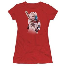 Suicide Squad Bat At You Short Sleeve Junior Sheer T-Shirt