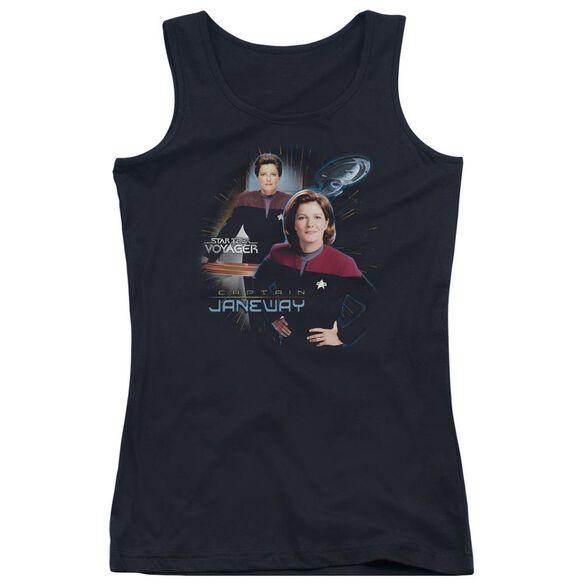 Star Trek Captain Janeway - Juniors Tank Top - Black