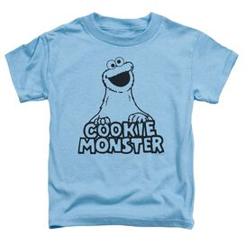 Sesame Street Vintage Cookie Monster Short Sleeve Toddler Tee Carolina Blue T-Shirt