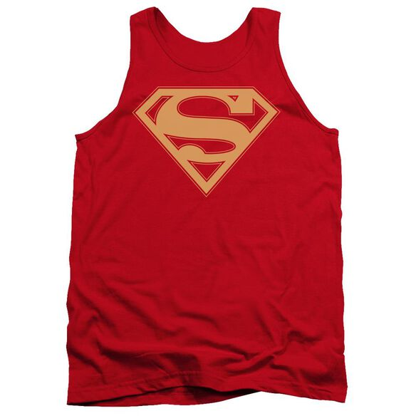 Superman & Gold Shield Adult Tank