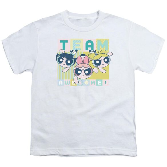 Powerpuff Girls Awesome Block Short Sleeve Youth T-Shirt