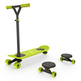 MorfBoard Scooter & Skateboard Combo Set - Chartreuse/Black Color
