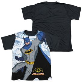 Batman Unlimited Tech Cave Short Sleeve Youth Front Black Back T-Shirt