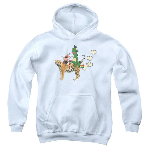 Uncle Grandpa Fart Hearts Youth Pull Over Hoodie