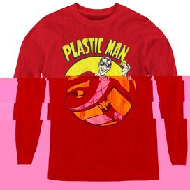 Dc Plastic Man - Youth Long Sleeve Tee - Red