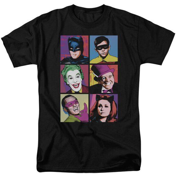 Batman Classic Tv Pop Cast Short Sleeve Adult T-Shirt