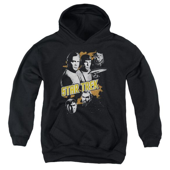 Star Trek Graphic Good Vs Evil Youth Pull Over Hoodie