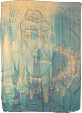Cinderella Watercolor Outline Scarf
