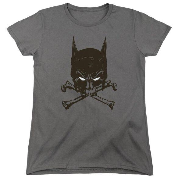 Batman Bat And Bones Short Sleeve Womens Tee T-Shirt