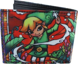 Zelda Stained Glass Link Bi Fold Wallet