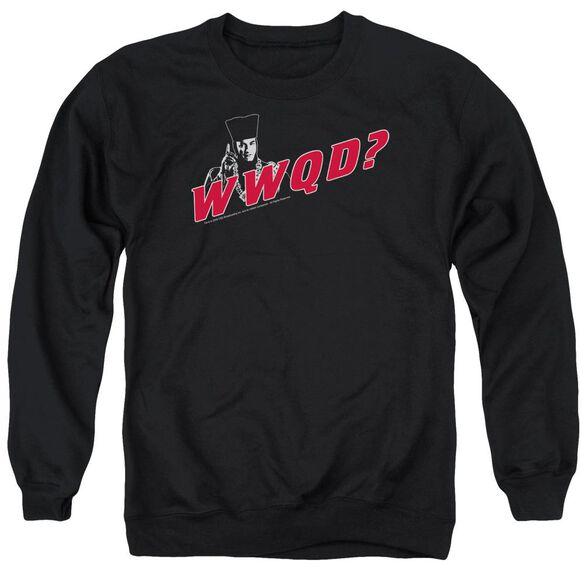 Star Trek Wwqd - Adult Crewneck Sweatshirt - Black