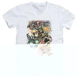 JLA BRIGHTEST DAY #0 - S/S ADULT V-NECK - WHITE T-Shirt