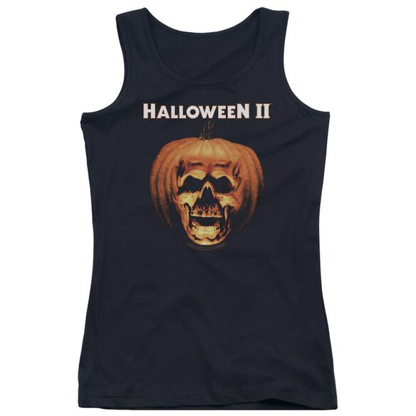 Halloween Ii Pumpkin Shell Juniors Tank Top