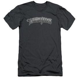 Three Stooges Metallic Logo Short Sleeve Adult T-Shirt