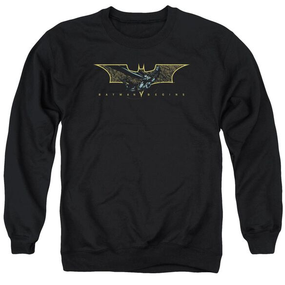 Batman Begins Coming Through Adult Crewneck Sweatshirt