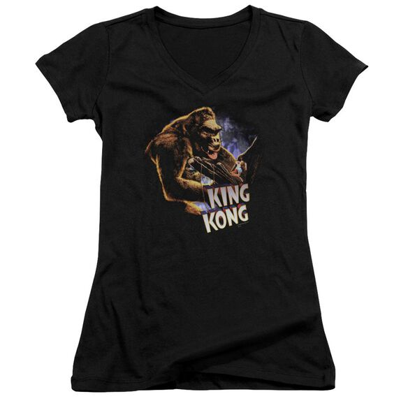 King Kong Kong And Ann Junior V Neck T-Shirt