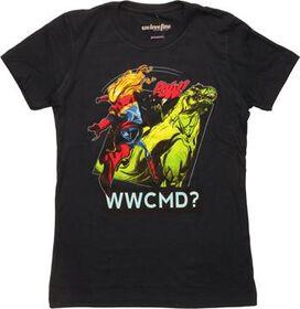 Captain Marvel WWCMD Pow Juniors T-Shirt