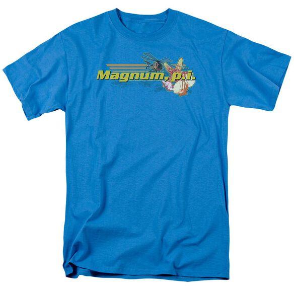 Magnum Pi Hawaiian Life Short Sleeve Adult Turquoise T-Shirt