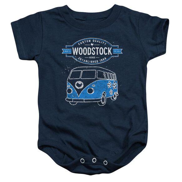 Woodstock Van Infant Snapsuit Navy