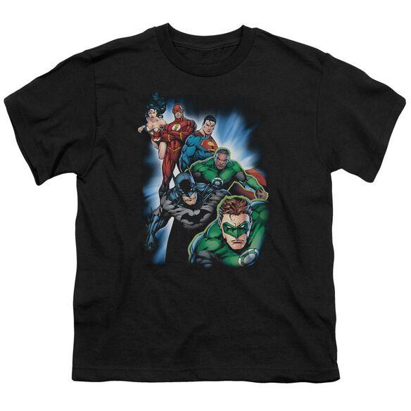 Jla Heroes Unite Short Sleeve Youth T-Shirt
