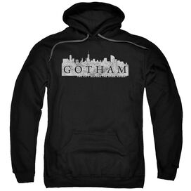 Gotham Skyline Logo Adult Pull Over Hoodie