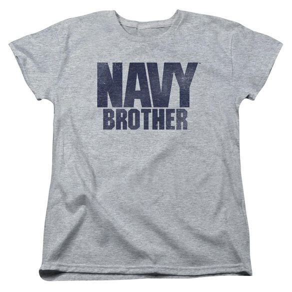 Navy Brother Short Sleeve Womens Tee Athletic T-Shirt