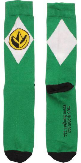 Power Rangers Green Crew Socks