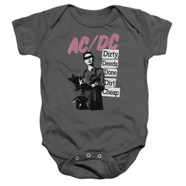 Acdc Dirty Deeds Infant Snapsuit Charcoal