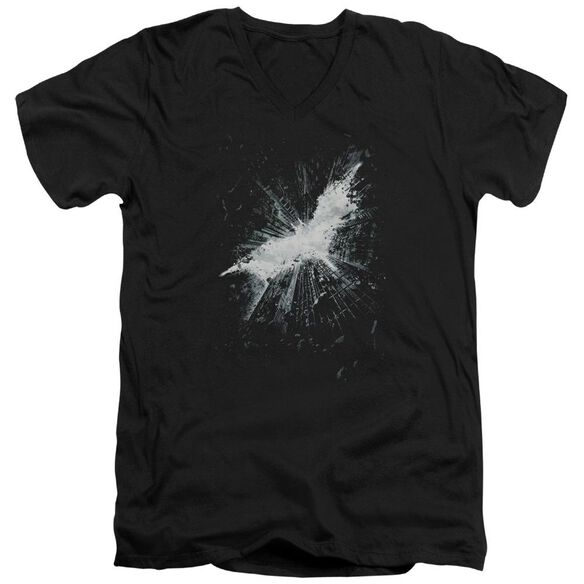 Dark Knight Rises Teaser Poster Short Sleeve Adult V Neck T-Shirt