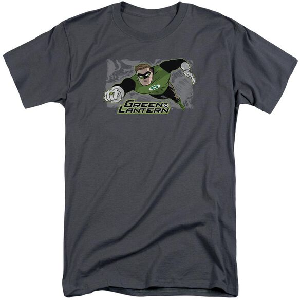 Jla Space Cop Short Sleeve Adult Tall T-Shirt