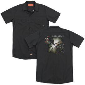 Injustice Gods Among Us Good Vs Evils (Back Print) Adult Work Shirt