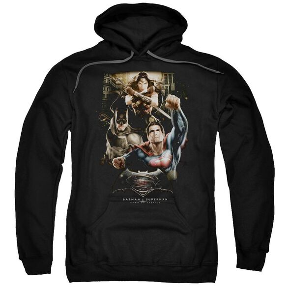 Batman V Superman Three In Action Adult Pull Over Hoodie
